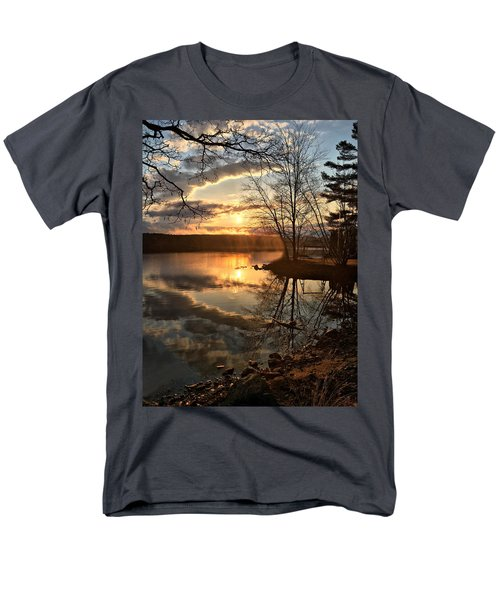 Clouds, Reflection And Sunset  Men's T-Shirt  (Regular Fit) by Betty Pauwels