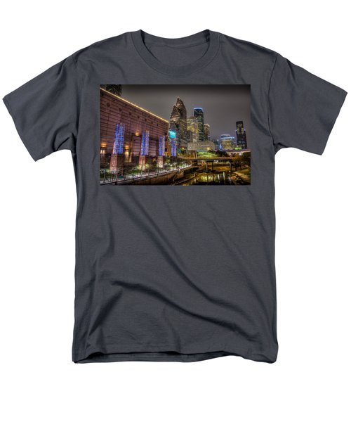 Men's T-Shirt  (Regular Fit) featuring the photograph Cloudy Night In Houston by David Morefield