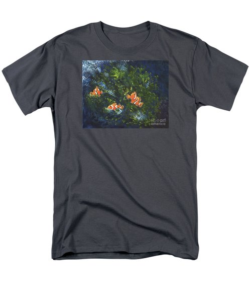 Men's T-Shirt  (Regular Fit) featuring the painting Clowning Around by Carol Sweetwood