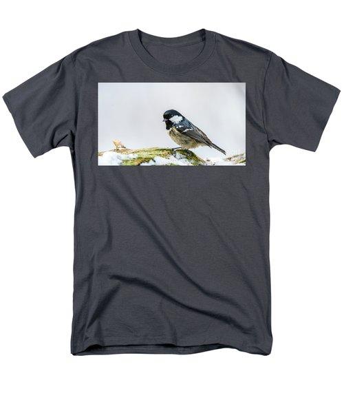 Men's T-Shirt  (Regular Fit) featuring the photograph Coal Tit's Profile by Torbjorn Swenelius