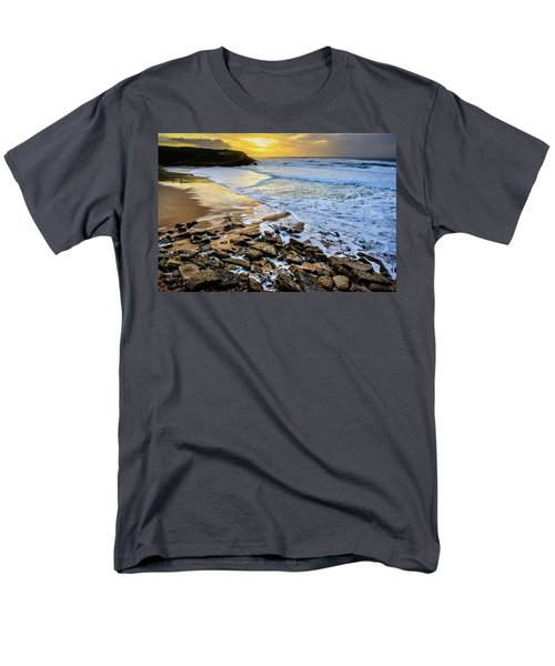 Men's T-Shirt  (Regular Fit) featuring the photograph Coastal Sunset by Marion McCristall