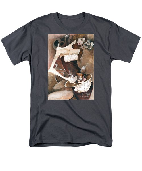 Men's T-Shirt  (Regular Fit) featuring the painting Coffee Shop by Maya Manolova