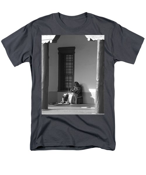 Men's T-Shirt  (Regular Fit) featuring the photograph Cold Native American Woman by Rob Hans