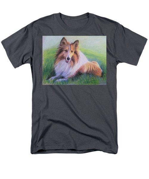 Collie Men's T-Shirt  (Regular Fit) by Dave Luebbert