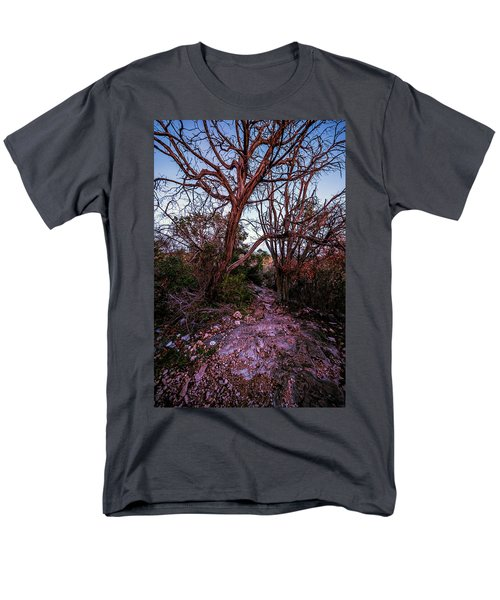 Colorado Bend State Park Gorman Falls Trail #3 Men's T-Shirt  (Regular Fit) by Micah Goff