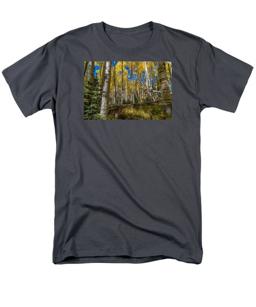 Colorado Fall Hike In The Aspens Men's T-Shirt  (Regular Fit) by Michael J Bauer