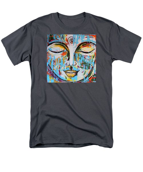 Colorful Buddha Men's T-Shirt  (Regular Fit) by Theresa Marie Johnson