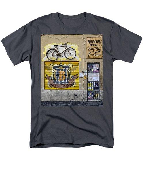 Colorful Signage In Palma Majorca Spain Men's T-Shirt  (Regular Fit) by Richard Rosenshein