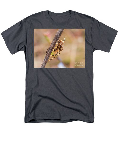 Colorful Spider Hanging From The Stick  Men's T-Shirt  (Regular Fit) by Gurgen Bakhshetsyan