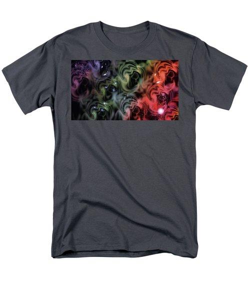 Colorful Swirls Men's T-Shirt  (Regular Fit) by Carol Crisafi