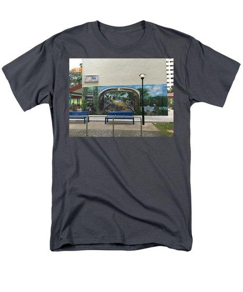 Coloring Holland V Wall 1 - Memories Men's T-Shirt  (Regular Fit) by Belinda Low