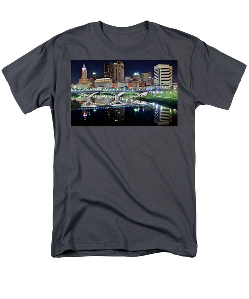 Columbus Over The Scioto Men's T-Shirt  (Regular Fit) by Frozen in Time Fine Art Photography