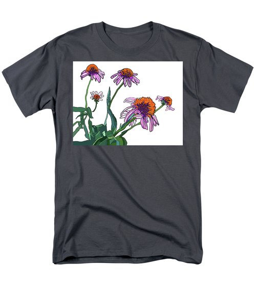 Cone Flowers Men's T-Shirt  (Regular Fit) by Jamie Downs