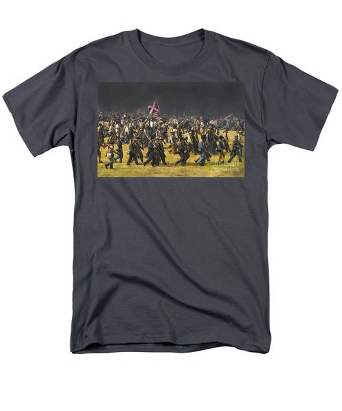 Confederate Charge At Gettysburg Men's T-Shirt  (Regular Fit) by Paul W Faust -  Impressions of Light