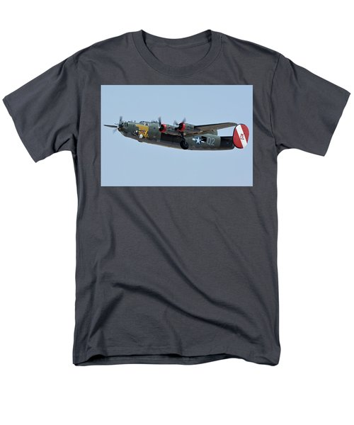 Consolidated B-24j Liberator N224j Witchcraft Phoenix-mesa Gateway Airport Arizona April 15 2016 Men's T-Shirt  (Regular Fit) by Brian Lockett