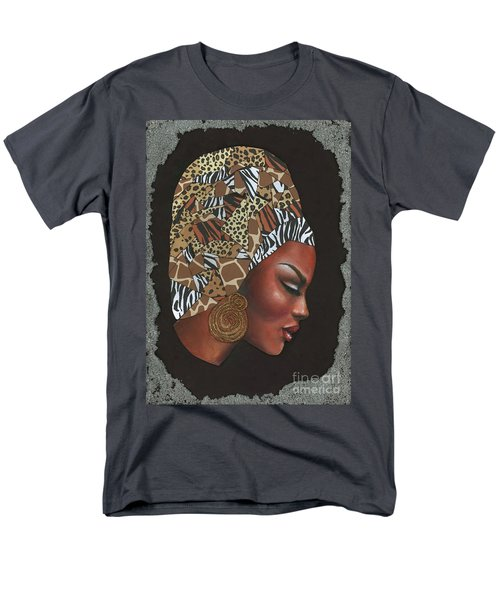 Men's T-Shirt  (Regular Fit) featuring the mixed media Contemplation Too by Alga Washington