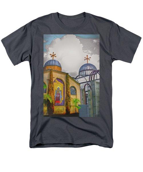 Coptic Church Rebirth Men's T-Shirt  (Regular Fit) by Joseph Hollingsworth