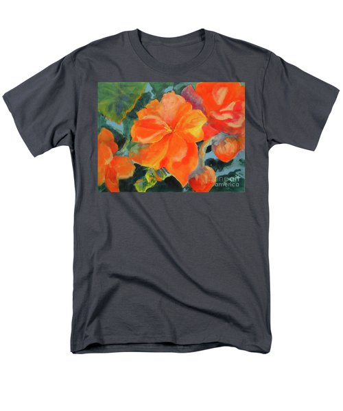 Men's T-Shirt  (Regular Fit) featuring the painting Coral Begonias by Kathy Braud
