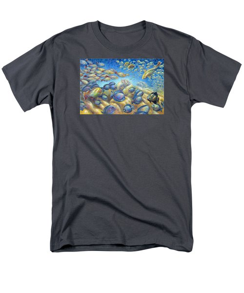 Coral Reef Life Silvers Men's T-Shirt  (Regular Fit) by Nancy Tilles