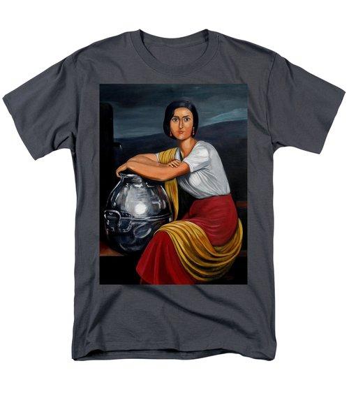 Cordobesa En La Fuente  Men's T-Shirt  (Regular Fit) by Manuel Sanchez