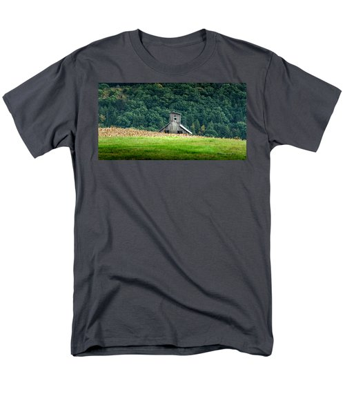 Men's T-Shirt  (Regular Fit) featuring the photograph Corn Field Silo by Marvin Spates