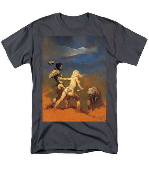 Men's T-Shirt  (Regular Fit) featuring the painting Cornered by Frank Frazetta