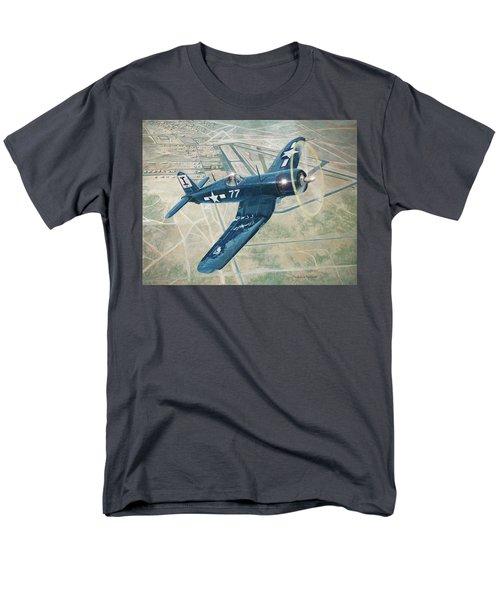 Corsair Over Mojave Men's T-Shirt  (Regular Fit) by Douglas Castleman