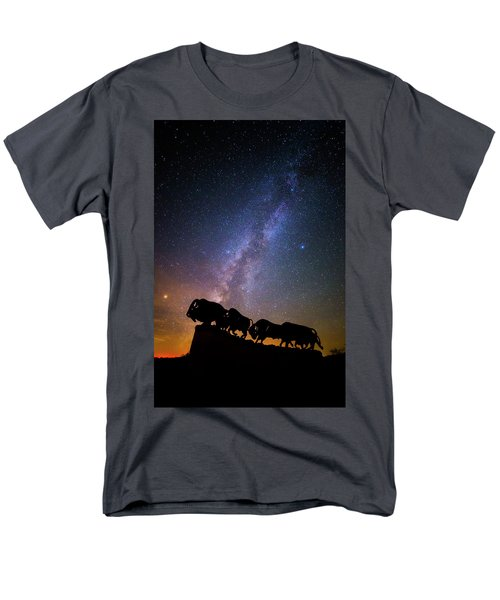 Men's T-Shirt  (Regular Fit) featuring the photograph Cosmic Caprock Bison by Stephen Stookey