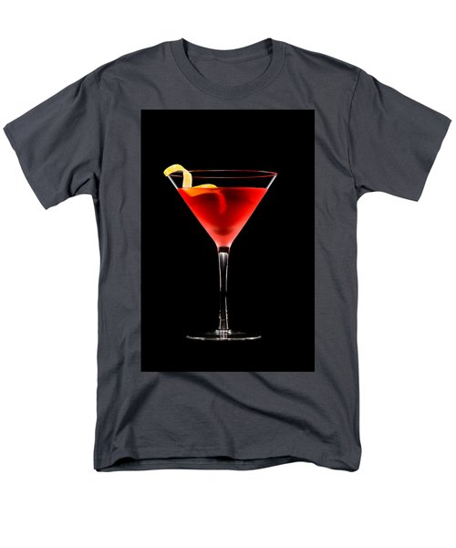 Cosmopolitan Cocktail In Front Of A Black Background  Men's T-Shirt  (Regular Fit) by Ulrich Schade