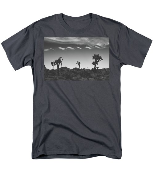Men's T-Shirt  (Regular Fit) featuring the photograph Cotton Sky On Joshua Trees by Joseph Westrupp
