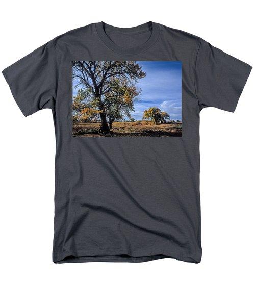 Cottonwood #5 Fall Ranch Colorado Blue Sky Men's T-Shirt  (Regular Fit) by John Brink