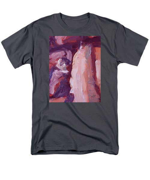 Men's T-Shirt  (Regular Fit) featuring the painting Couch Abstract In Red And Purple by Nop Briex