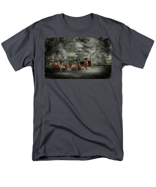 Men's T-Shirt  (Regular Fit) featuring the photograph Country Crossing by Marvin Spates
