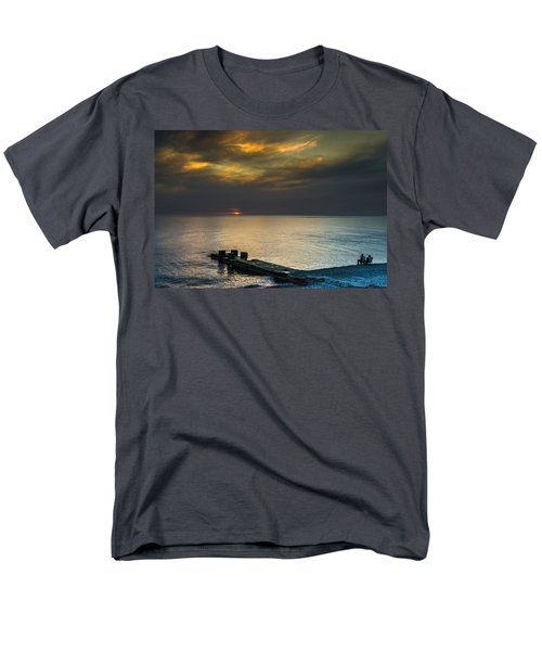 Men's T-Shirt  (Regular Fit) featuring the photograph Couple Watching Sunset by John Williams