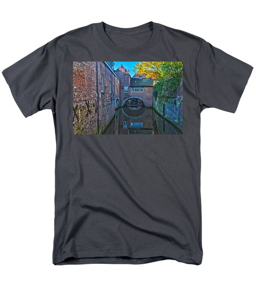 Covered Canal In Den Bosch Men's T-Shirt  (Regular Fit) by Frans Blok