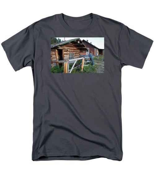 Cowboy Cabin Men's T-Shirt  (Regular Fit) by Diane Bohna