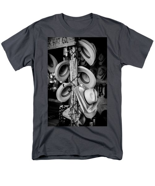 Men's T-Shirt  (Regular Fit) featuring the photograph Cowboy Hats At Snail Creek Hat Company by David Morefield