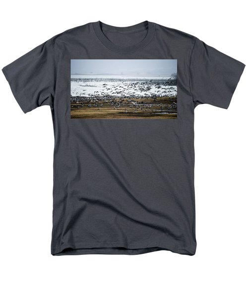 Men's T-Shirt  (Regular Fit) featuring the photograph Crane Dance by Torbjorn Swenelius
