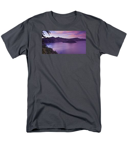 Crater Lake Sunset Men's T-Shirt  (Regular Fit)