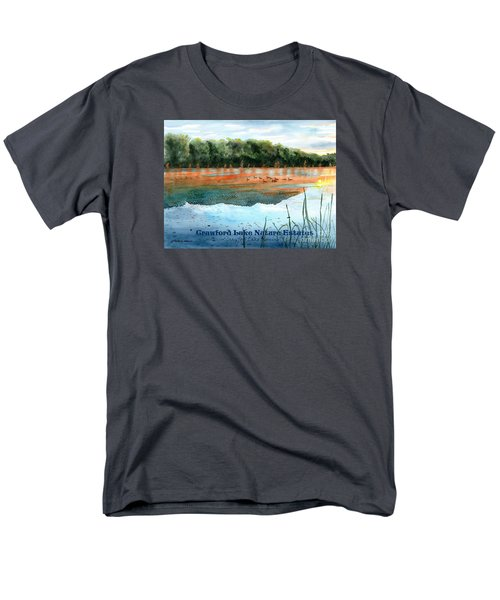 Men's T-Shirt  (Regular Fit) featuring the painting Crawford Lake Nature Estates by LeAnne Sowa