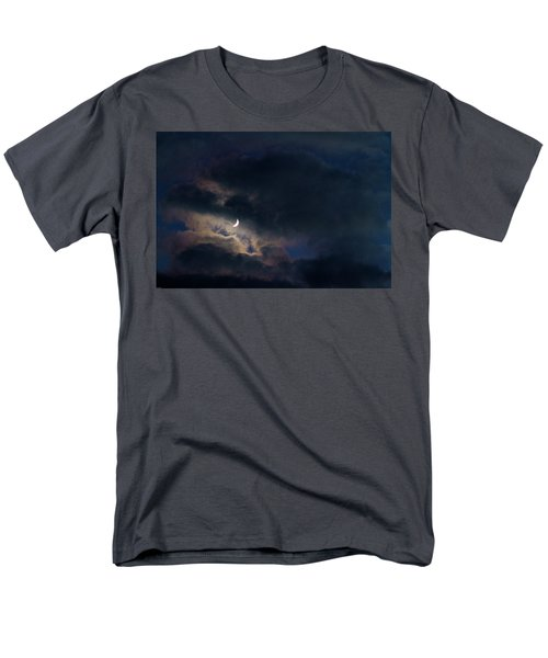 Men's T-Shirt  (Regular Fit) featuring the photograph Crescent Moon In Hocking Hilla by Haren Images- Kriss Haren