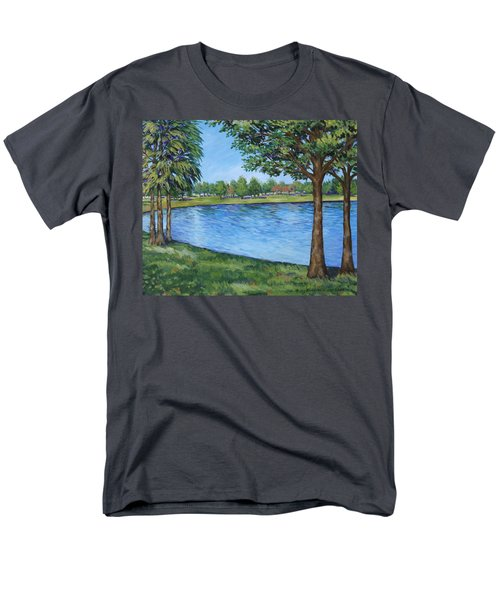Men's T-Shirt  (Regular Fit) featuring the painting Crest Lake Park by Penny Birch-Williams