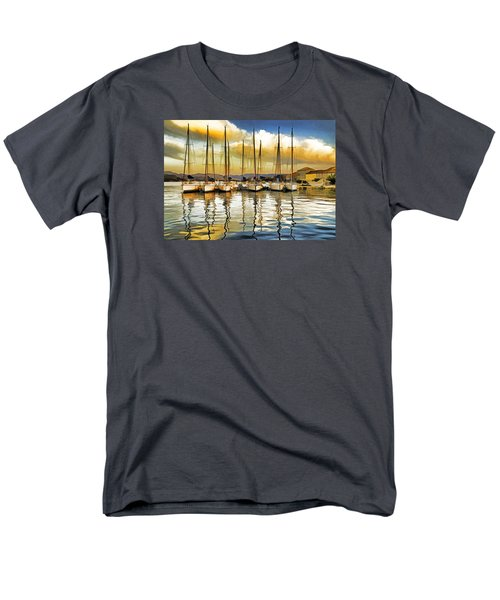 Men's T-Shirt  (Regular Fit) featuring the photograph Croatia Marina by Dennis Cox WorldViews