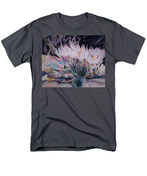 Men's T-Shirt  (Regular Fit) featuring the painting Crocuses by Mindy Newman