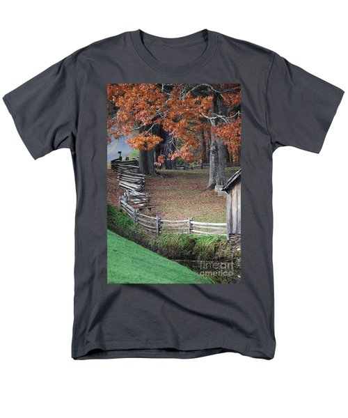 Crooked Fence Men's T-Shirt  (Regular Fit) by Eric Liller