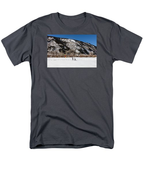 Cross-county Skiers Outside Aspen Men's T-Shirt  (Regular Fit) by Carol M Highsmith