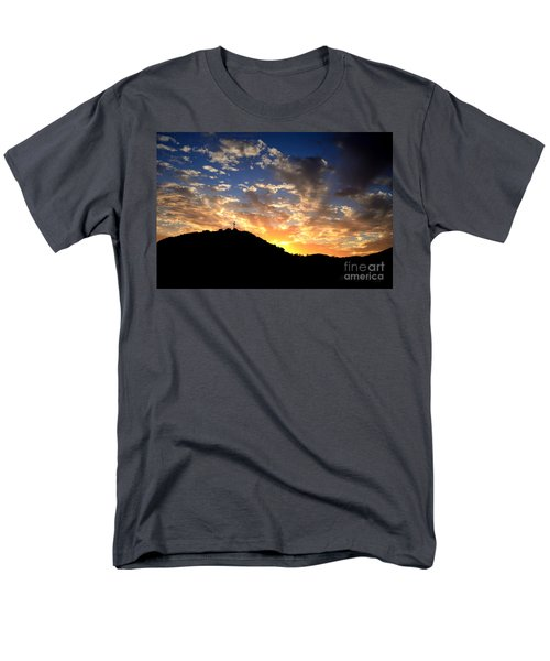 Cross On A Hill Men's T-Shirt  (Regular Fit) by Sharon Soberon