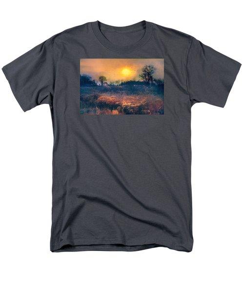 Crossing Through The Meadows Men's T-Shirt  (Regular Fit) by John Rivera