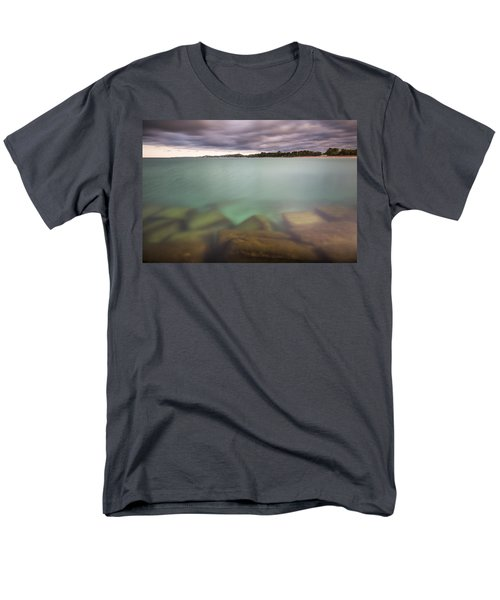 Men's T-Shirt  (Regular Fit) featuring the photograph Crystal Clear Lake Michigan Waters by Adam Romanowicz