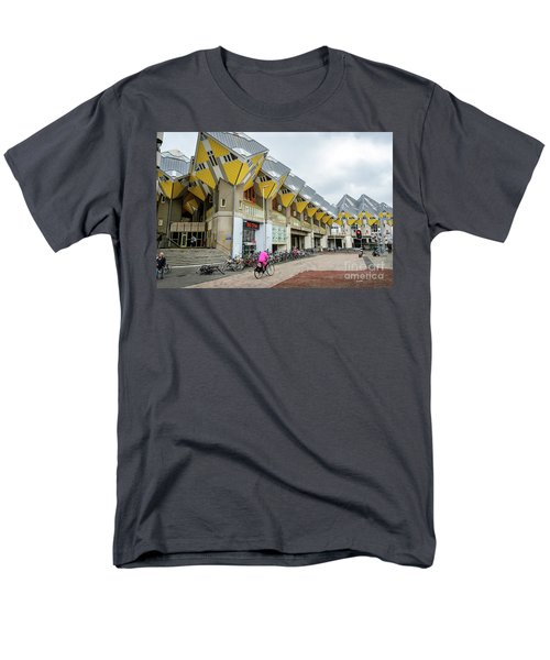 Men's T-Shirt  (Regular Fit) featuring the photograph Cube Houses In Rotterdam by RicardMN Photography